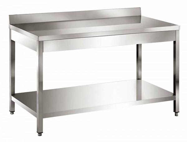 Edelstahl Tisch Arbeitstisch 120 150 160 180 200 cm Mit Aufkantung
