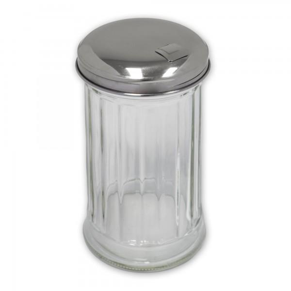 Zuckerdosierer APS Glas Edelstahl Dosierklappe