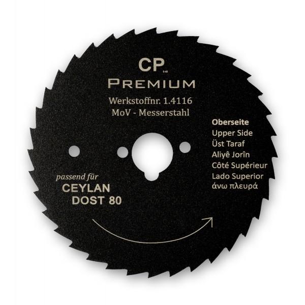 Kreismesser Ceylan Dost 80 Teflon Gezahnt