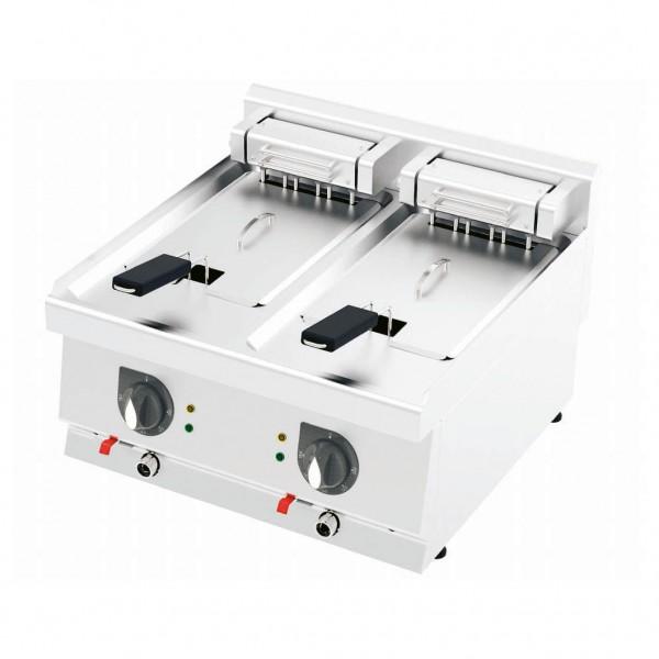 Elektro Doppel Fritteuse F6060E 12+12 Liter