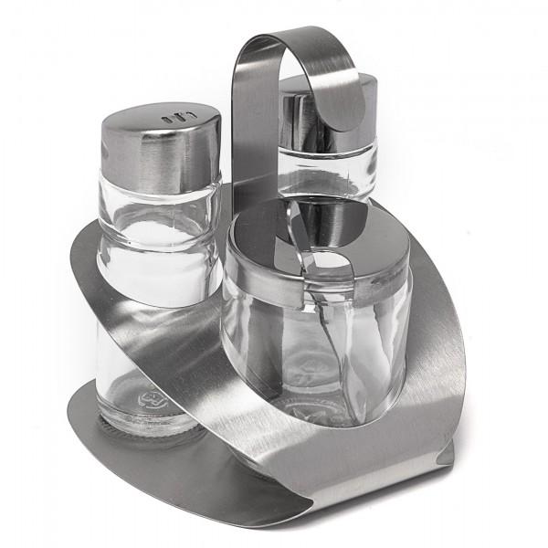 Menage APS Salz Pfeffer Senf 3-Teilig