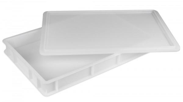 Teigbehälter + Deckel GI-Metal 60 x 40 x 7 cm