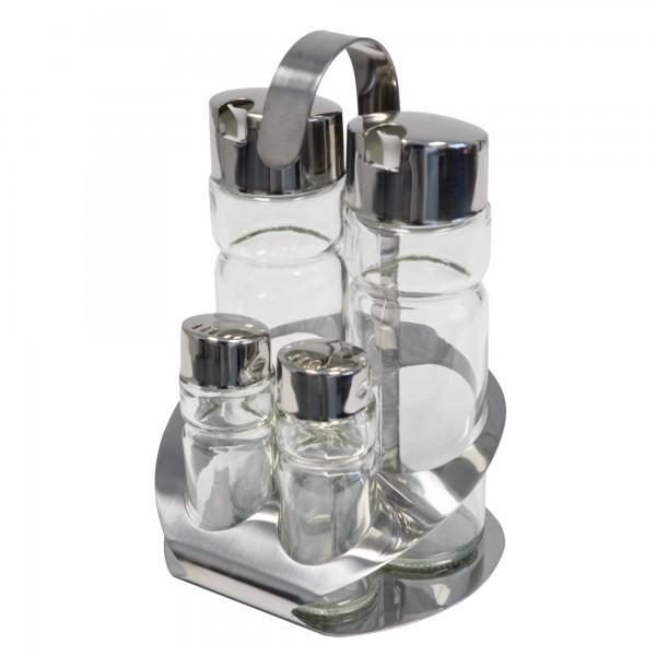 Menage APS Salz Pfeffer Essig Öl 4-Teilig